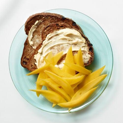 Paine prajita cu mango