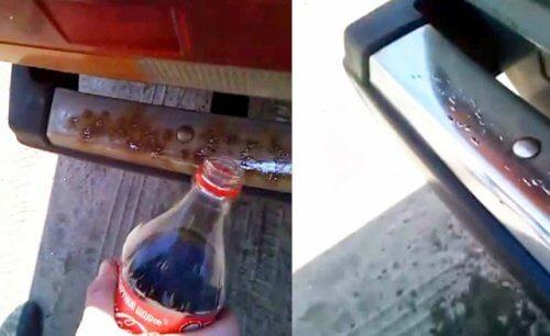 Coca cola pentru rugină