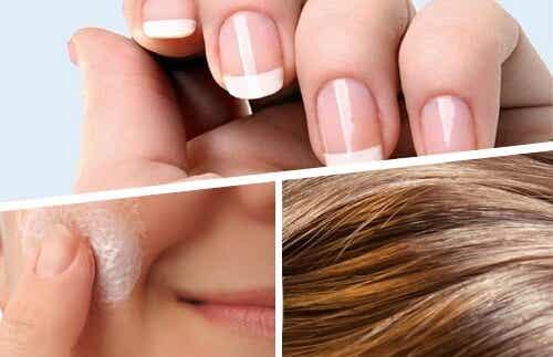 Alimente bune pentru piele, păr și unghii