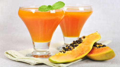 Smoothie cu papaya