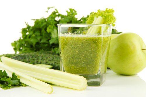 Suc verde eficient contra acidului uric