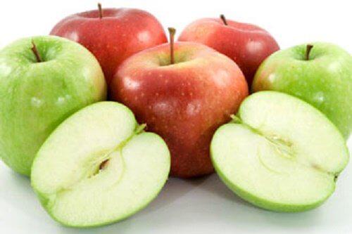 Fructe pentru ficat mere roșii și verzi