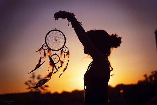 Dreamcatcher în adierea vântului