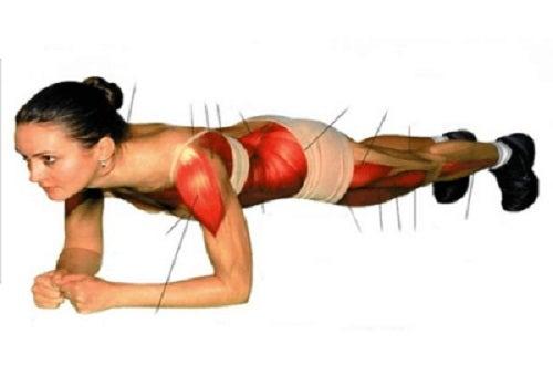 Exercițiul scândura antrenează tot corpul