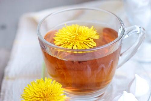 Ceaiul de păpădie prevenind retenția de apă
