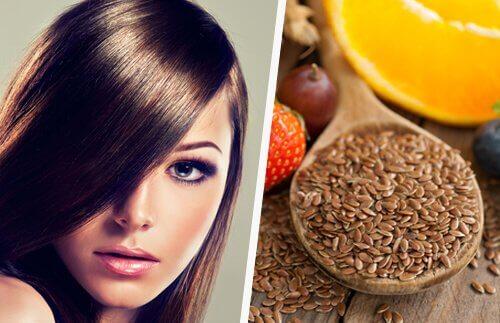 Păr sănătos cu semințe de in