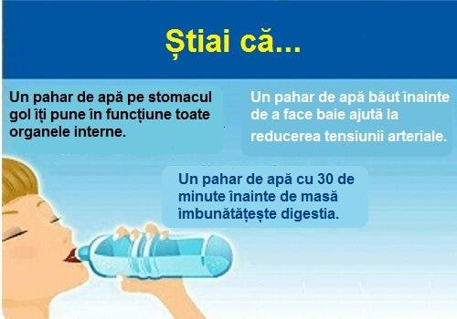 Consumul de apă are numeroase beneficii