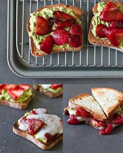 Rețete sănătoase cu avocado sun formă de sandviș