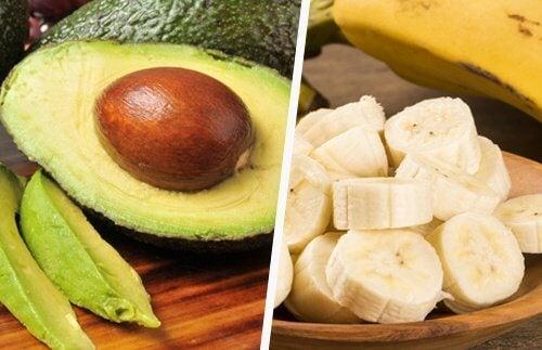 Avocado și bananele combat oboseala