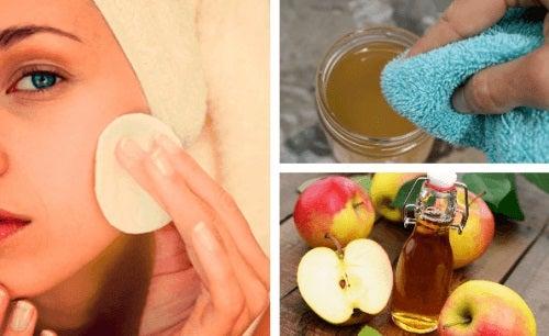 Loțiunea facială cu oțet de mere are multe beneficii