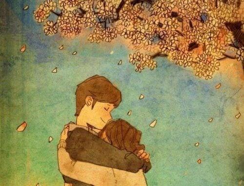 O îmbrățișare îți oferă cea mai mare alinare