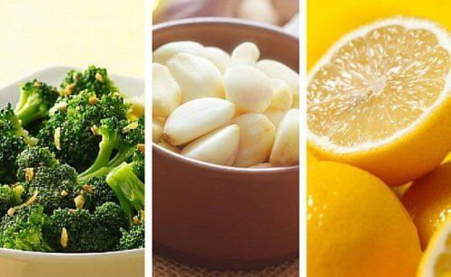 Lămâie, usturoi și broccoli pentru siluetă și sănătate