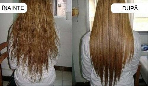 Îndreptarea părului cu produse naturale