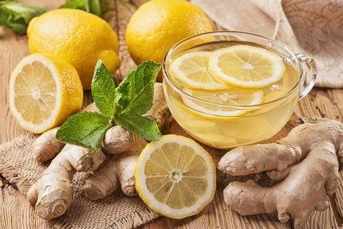 Detoxifierea ficatului cu lămâie și ghimbir