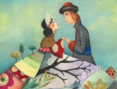 Îndrăgostiți care tânjesc după o îmbrățișare