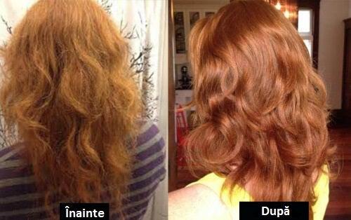 Păr spălat cu balsam de păr natural