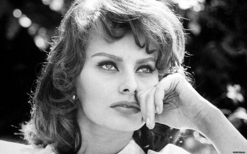Actrița Sophia Loren la tinerețe