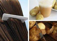 Apa de coji de cartofi hrănește părul