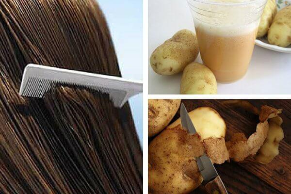Apa de coji de cartofi întărește părul