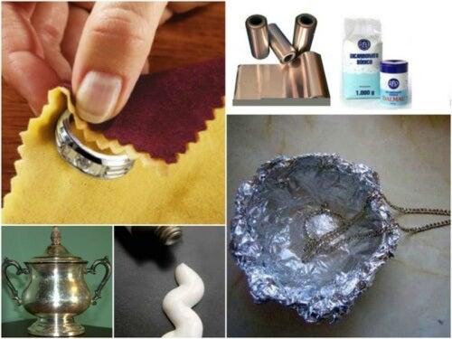 Poți să cureți acasă obiectele din argint