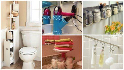 19 trucuri pentru a câștiga spațiu în baie