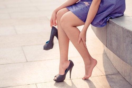 Varicele apar adesea în zona picioarelor