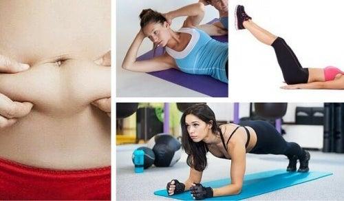 Următoarele exerciții sunt utile pentru a arde grăsimea abdominală