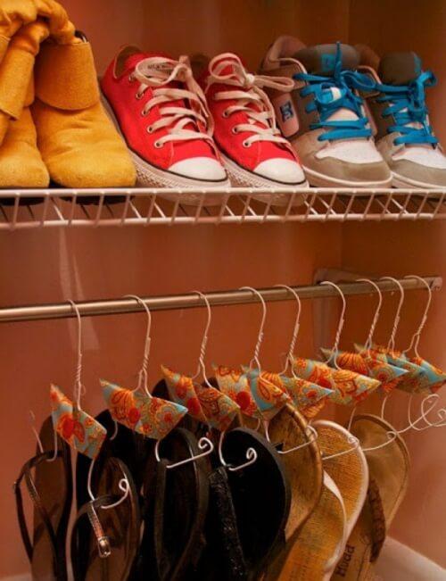 Organizarea spațiului din dulap pentru pantofi