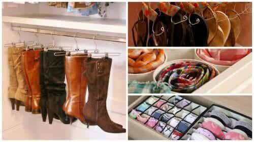 17 trucuri pentru organizarea spațiului din dulap