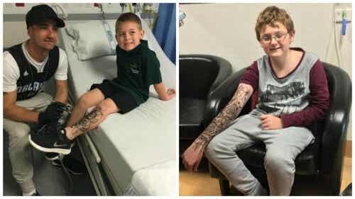 Un artist ajută copiii bolnavi cu tatuaje temporare