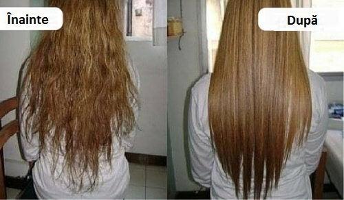 O cremă naturală pentru îndreptarea părului