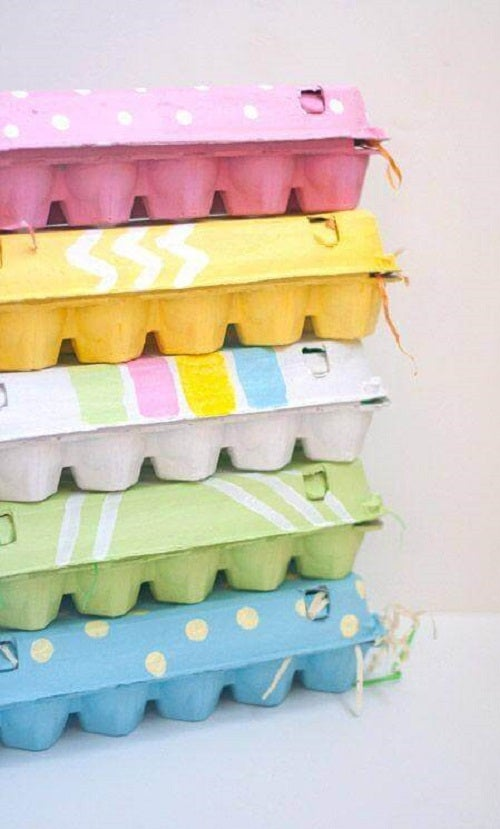 Cofrajele de ouă ca obiecte decorative