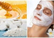 Prepară o mască facială pe bază de miere și aspirină