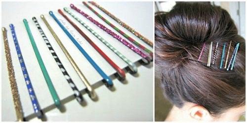 Oja poate fi folosită pentru decorarea agrafelor de păr