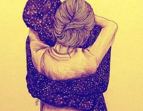 O mângâiere din suflet este o îmbrățișare