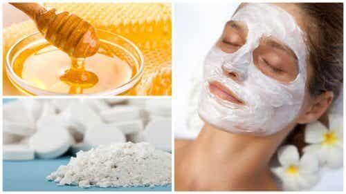 Mască facială cu aspirină și miere de albine