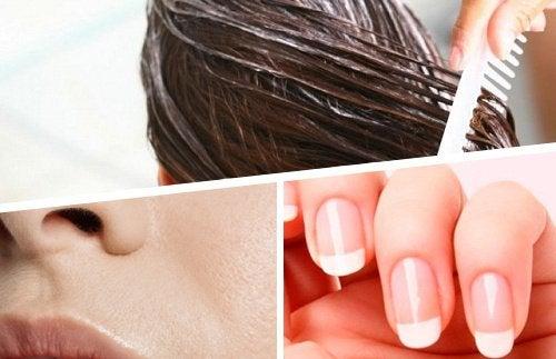 Folosește ingrediente naturale pentru păr, piele și unghii