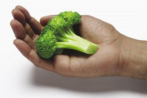 Poțoi să măsori porțiile de mâncare cu mâinile