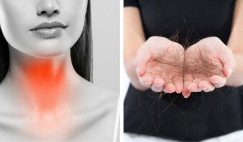Problemele glandei tiroide pot duce la căderea părului
