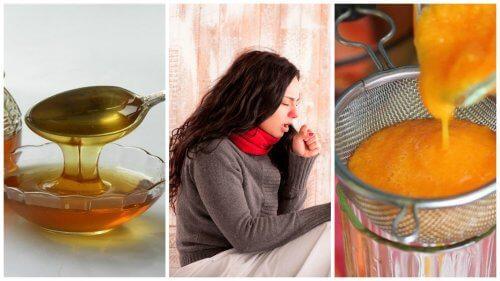 Sirop cu miere și morcovi care elimină flegma