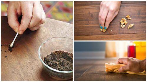 Elimină zgârieturile de pe mobilierul de lemn