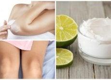 Folosește o cremă naturală pentru a albi pielea de pe coate și genunchi