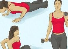 Fă exerciții fizice pentru a-ți întări mușchii brațelor