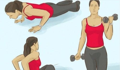 3 exerciții care întăresc mușchii brațelor