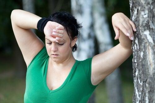 Oboseală cauzată de sesiunile de exerciții intense