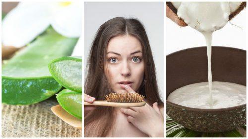 Tratează căderea părului cu 6 remedii naturiste