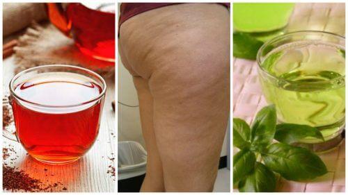 Poți combate celulita cu ajutorul mai multor băuturi naturale