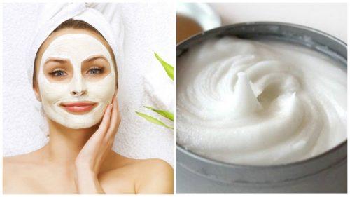 Elimină petele cu o mască facială cu aspirină și iaurt