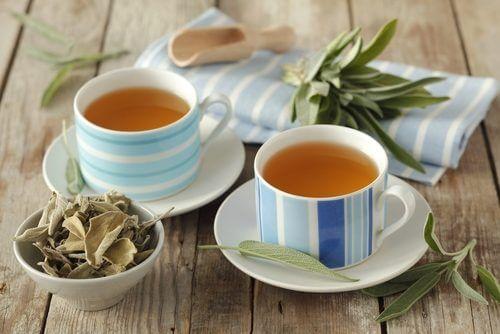 Umflăturile la genunchi tratate cu ceai de salvie