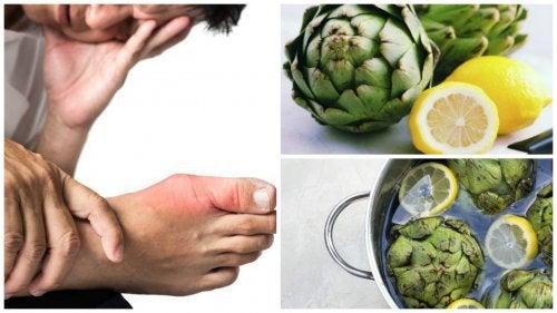 Elimină acidul uric cu apă de anghinare cu lămâie